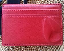 NIXON Mens HAZE Slimline Red PU Wallet Card Holder & Money Clip Belt Brand New