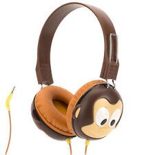 NEW GRIFFIN KAZOO MYPHONES KIDS ANIMAL OVER EAR HEADPHONES BROWN MONKEY GC40290