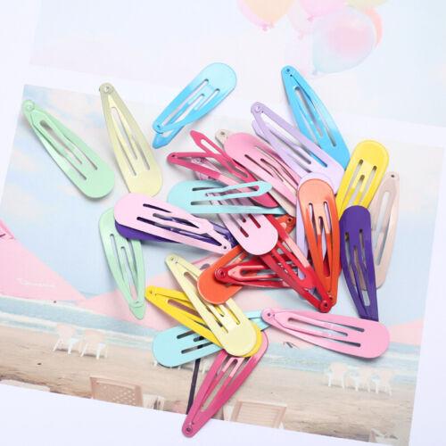 20pcs 5cm Snap Hair Clips for Hair Clip Pins BB Hairpin Color Metal Barrettes Sd