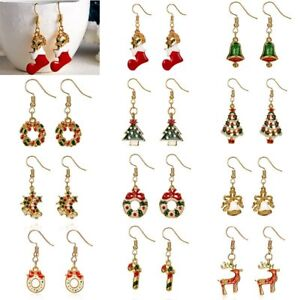 d6c9ea7b7765e Details about Lovely Cartoon Christmas Tree Earrings Drop Dangle Women  Jewelry Xmas Party Gift