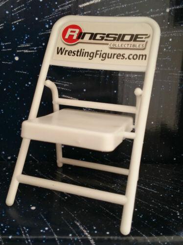 WWE MATTEL WRESTLING Accessoires Blanc Chaise pliante pour les figures LOOSE IN UK TLC