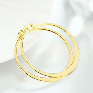 14K-Yellow-Gold-Plated-55-mm-Flat-Hoop-Earrings