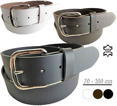 Ledergürtel schwarz glatt Echt Leder Gürtel Herrengürtel 3 cm breit  75-200 cm