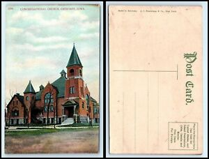 IOWA-Postcard-Cherokee-Congregational-Church-M32