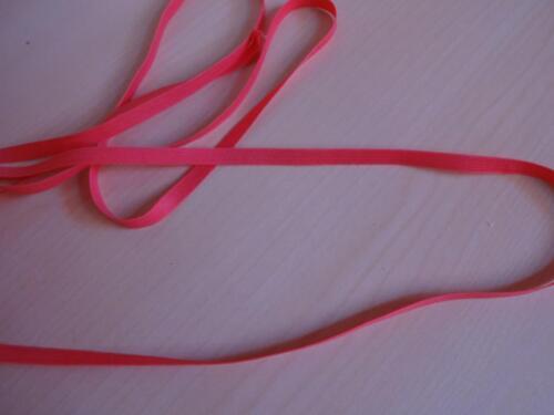 0,83€//m-Gummiband,Gummilitze Wäschegummi in Flamingo Wassermelone rot 3mx6mm