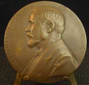 Medal-President-of-the-Republic-Emile-Loubet-by-J-C-Chaplain-1899-Medal