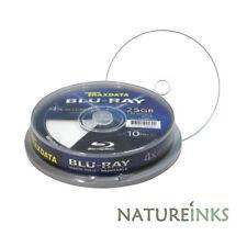 100 Traxdata Blank Blu Ray 4x Recordable White Inkjet Printable BD R 25GB Discs