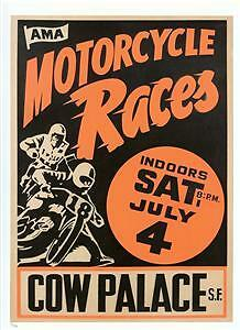 Cow-Palace-SF-short-track-REPRO-race-vintage-poster