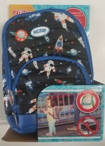 08e8707507 Image is loading Nuby-Quilted-Harness-Backpack-Space-Themed-18-Month-