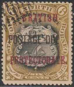 NORTH-BORNEO-1902-BP-POSTAGE-DUE-6c-ARMS-OF-BNBC-CTO