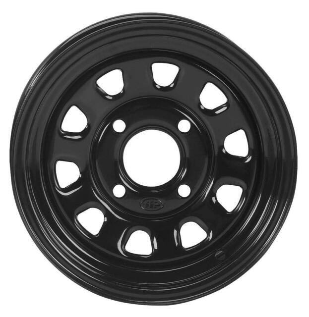 3.0 Black BOMBARDIER SUZUKI KAWASAKI CAN-AM 4//137 ITP Steel Wheel 12x7 4.0