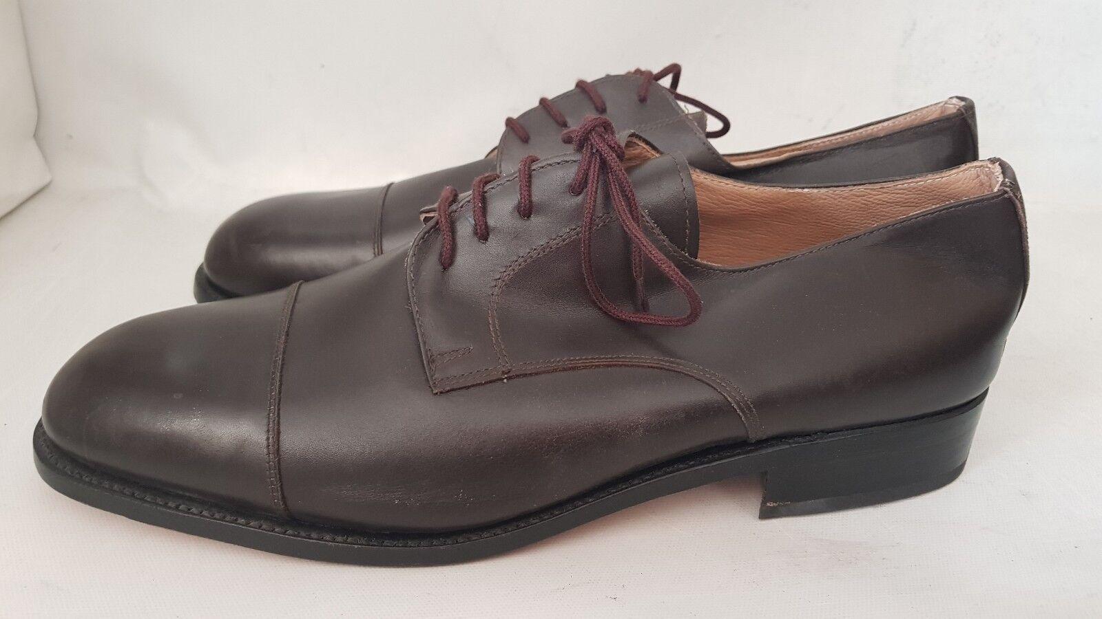 shoes men brown SCURO PELLE 46 MILITARE DE RISI SUD NUOVE