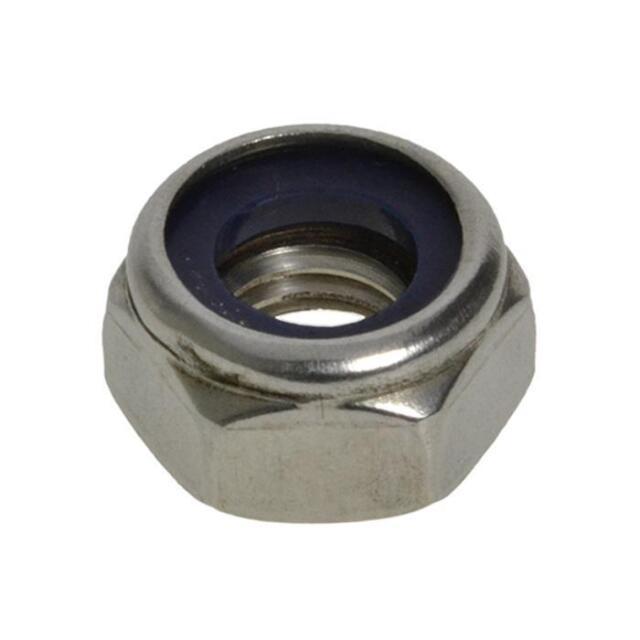 G316 Marine Stainless Steel M10 (10mm) Metric Coarse Hex Nyloc Insert Nut