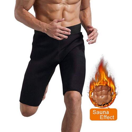 Men Body  Soft Sweatpants Neoprene Weight Loss Slim Sauna Shorts UK //*e