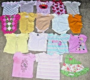 Clothing, Shoes & Accessories Baby & Toddler Clothing Baby Girl Clothes Bodysuits Tops Lot Size 6 Months