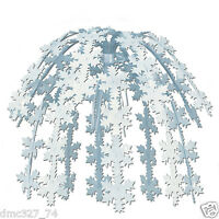 Christmas Or Frozen Themed Party Decoration 24 Hanging Snowflake Cascade