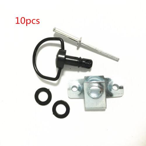 10Pcs 17mm Rivet Motorcycle Race Fasteners Quick Release 1//4 Turn Fairing Kit