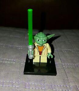 Authentic-LEGO-Star-Wars-Yoda-Minifigure-Gray-Hair-sw219-7964-8018-Jedi-Minifig