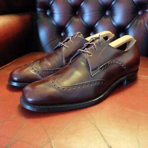 Bien Johnston & Murphy Usa Vintage Bout D'aile Derby Chaussures 9 (uk) 10 (usa) 43 (ue)-afficher Le Titre D'origine Couleurs Fantaisie
