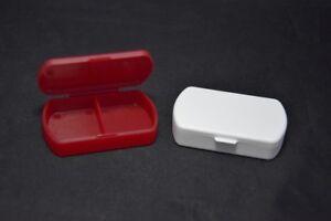 2,Pillenboxen,2 Fächer,Pillendose,Tablettendose,Tagesbox Pillenspender,Pille