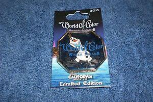 NEW 2015 Disney California Adventure World Of Color Winter Dreams Olaf Pin LE