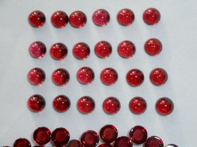 red garnet cabochon 6mm round cut flat backs £3.49 each stone