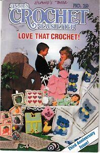 Annie/'s Crochet Newsletter Magazine January-February 1986 No 19