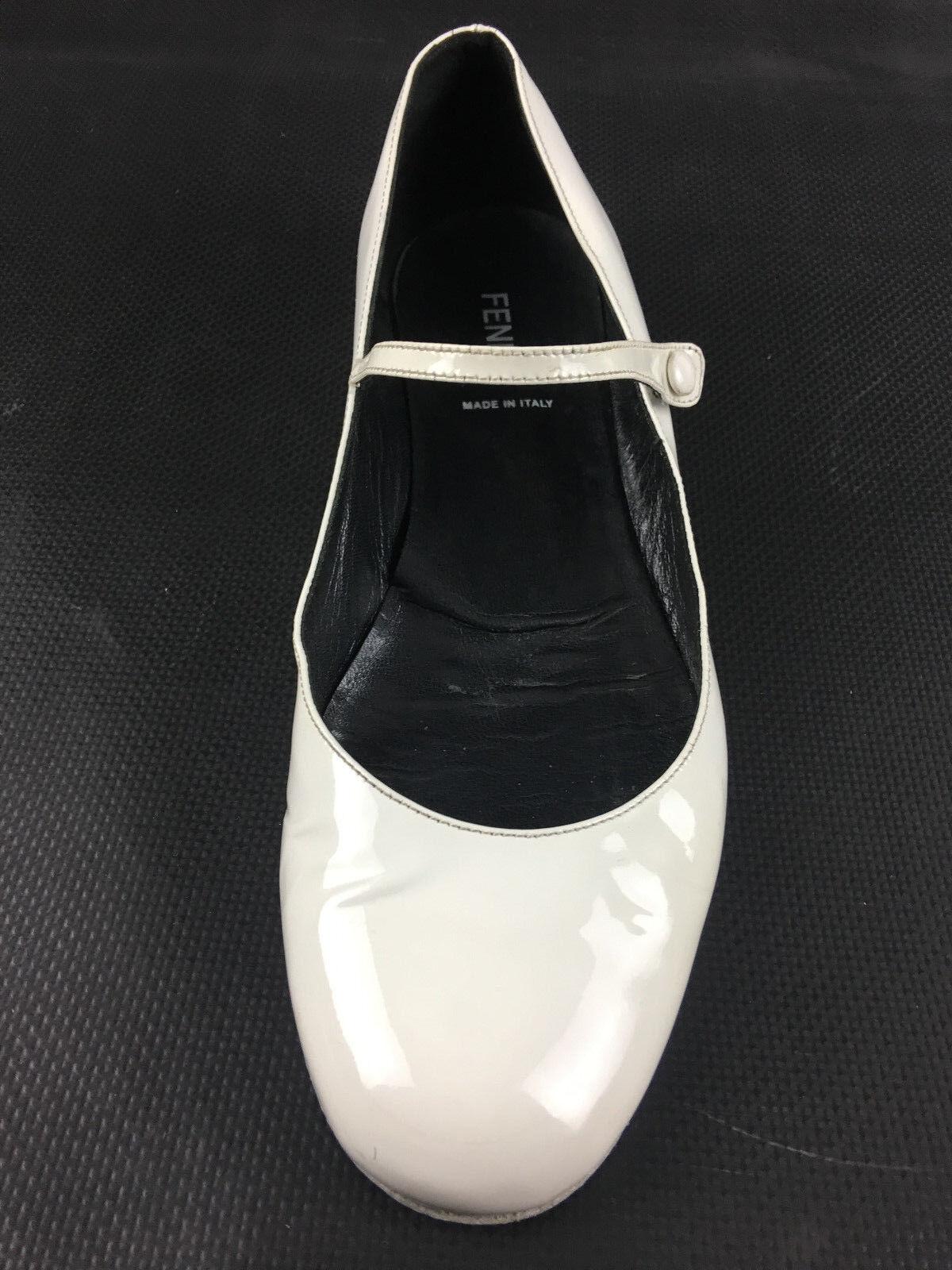 Fendi Ballerina Flat Patten bianca Dimensione EUR.38