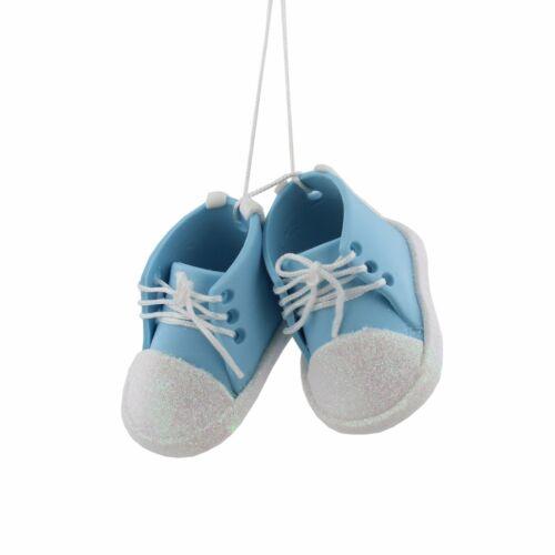 Bébé Garçon Bleu ou fille chaussures roses bootees Noël ou ornement suspendu XM3249//50