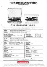 Service Manual Instructions for NORDMENDE RP 990, RP 991