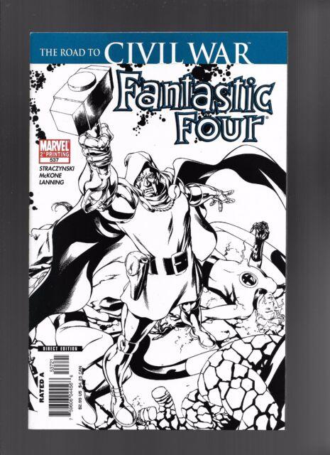 Fantastic Four #537 (Jun 2006, Marvel) 2nd Print B&W Sketch Variant