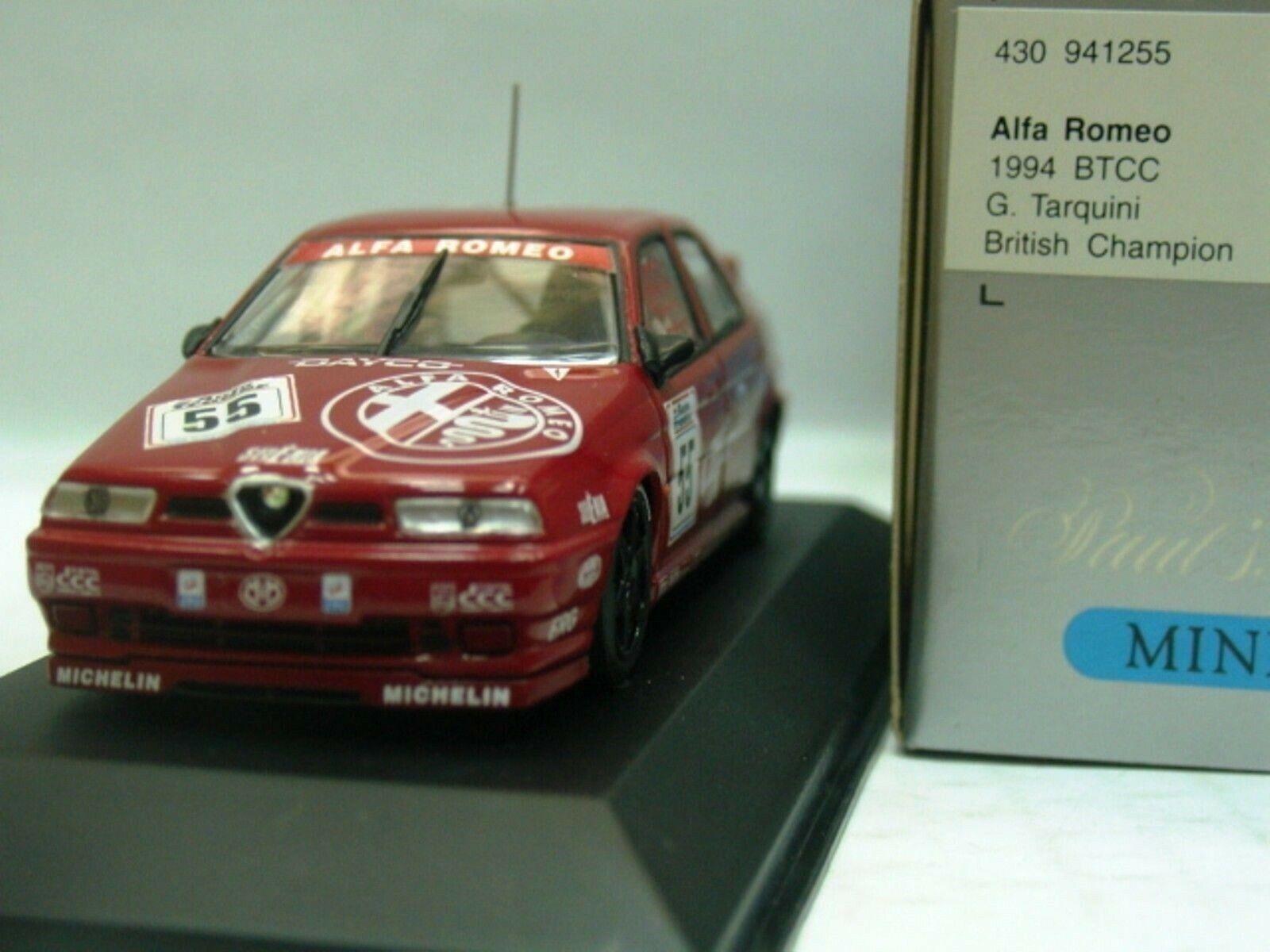 WOW EXTREMELY RARE Alfa Romeo 155 SV Tarquini Champion BTCC 1994 1 43 Minichamps
