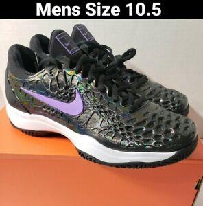 Nike Zoom Cage 3 Hc Slk Black Purple Ck5248 001 Mens Size 10 5 Rafael Nadal Ebay