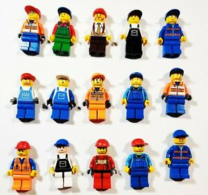 Lego-Worker-Farmer-Handyman-Construction-Random-Town-City-Minifigures-Lot-of-5