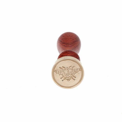 Retro Wood Handle Sealing Wax Stamp Animal Wedding Invitation Sealing Stamps