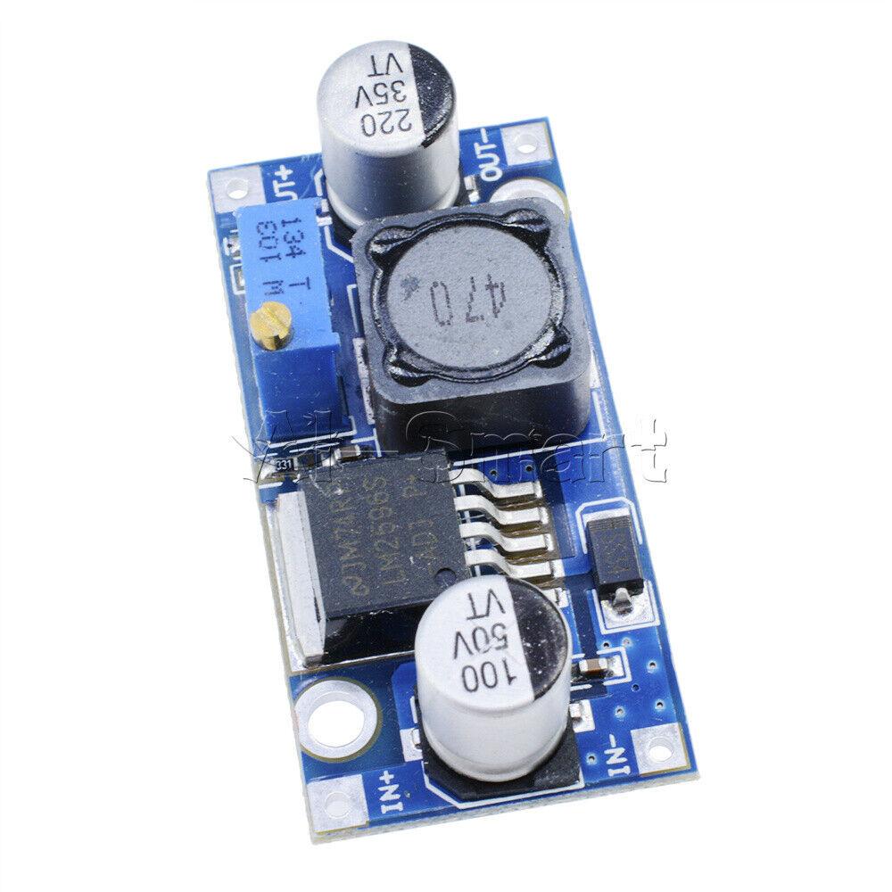 10PCS LM2596 DC-DC Step-down Adjustable Power Supply Converter Module 1.25V-35V