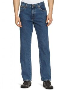Wrangler-Texas-Regular-Fit-New-Men-s-Straight-Leg-Jeans-Stonewash-Blue-Denim