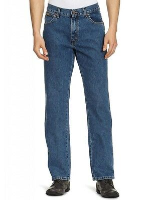Wrangler Texas Regular Fit New Men's Straight Leg Jeans Stonewash Blue Denim