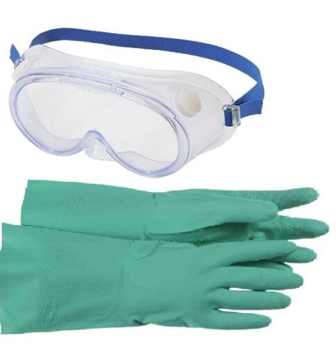 Safety Gloves & Goggles kit to EN166/374/388