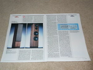 Details about ADS M-12 Speaker Review, 2 pgs, 1988, Specs, Full Test