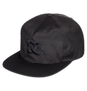 ed236f27388 DC SHOES MENS BASEBALL CAP.NEW FLOORA TASLON BLACK FLAT PEAK SKATE ...