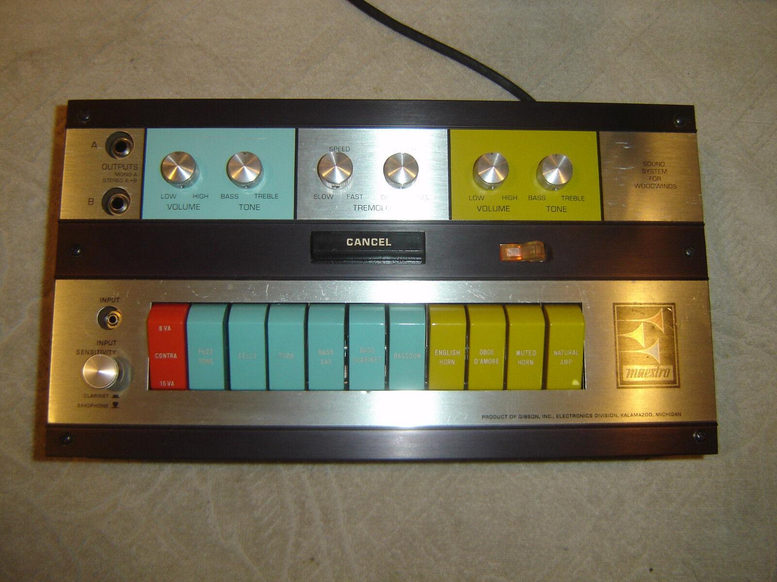 Gibson Maestro W2 W-2 Sound System for Woodwinds Vintage Unit Unit Unit a78b5b