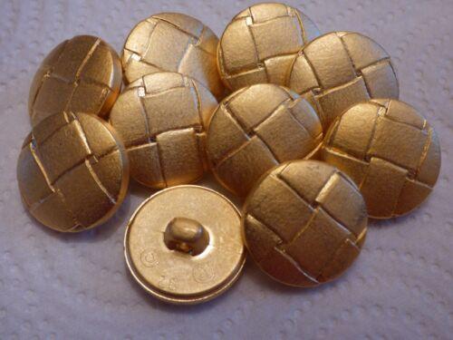 10pcs 20 mm GOLD FOOTBALL tige Veste Cardigan Manteau Boutons
