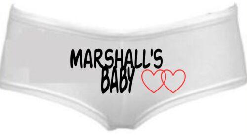 /'s baby print ladies boyshorts underwear valentines your name Personalised