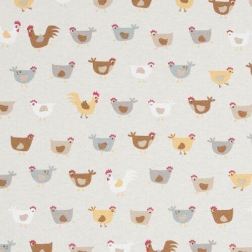 Patchwork De Dibujos Animados Estampado pollos 100/% Algodón Lino Aspecto Tela De Tapicería