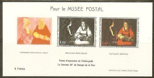 1966 Bloc Musée Postal Georges De La Tour 1479b Non Dentelé Retarder La SéNilité