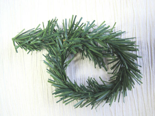 5 or 10 x Green Christmas Tree Branch Wired Garland Ties Bendy Craft Decoration