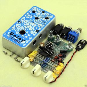 diy delay 1 guitar effect pedal all kits with 1590b diecast aluminium box 708402330199 ebay. Black Bedroom Furniture Sets. Home Design Ideas