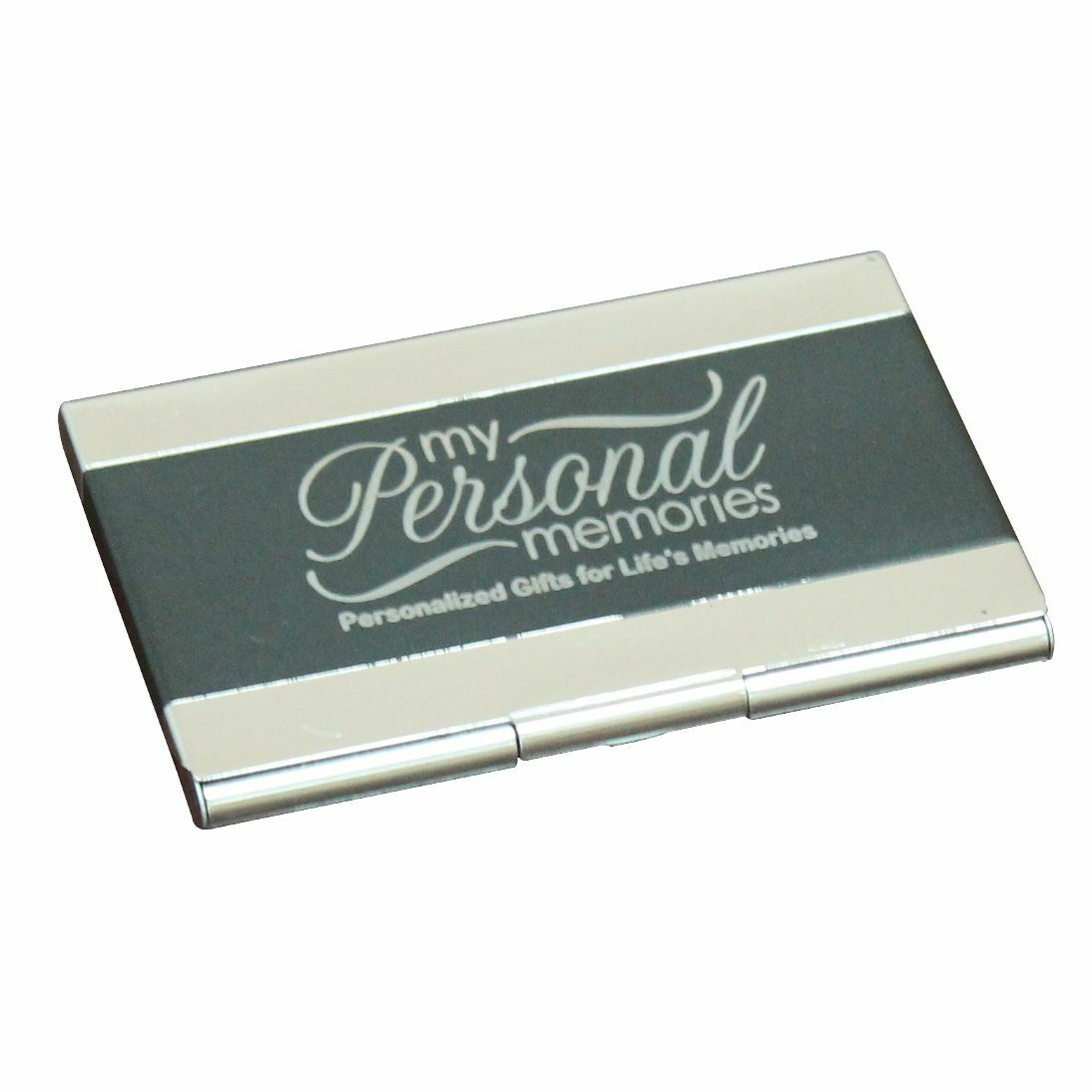 Engraved Black Business Card Case Holder Custom