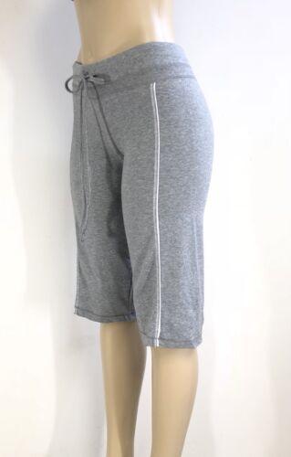 Active wear Grey Yoga Cotton Spandex Short Capri Athletic Bermuda S-M-L-XL NWT